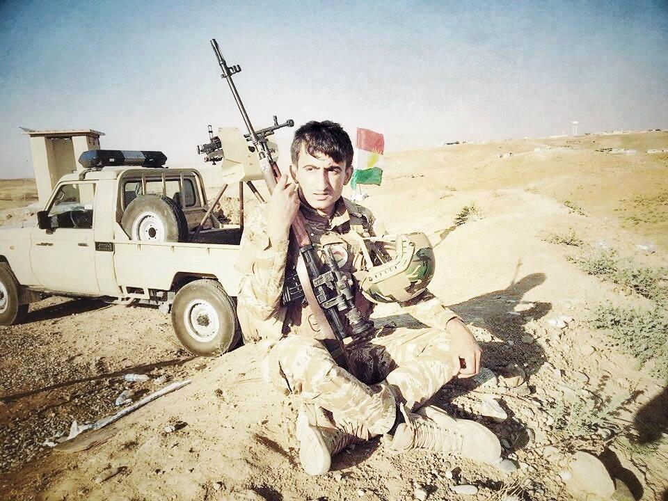 A Kurdish Soldier rests with a Dragunov