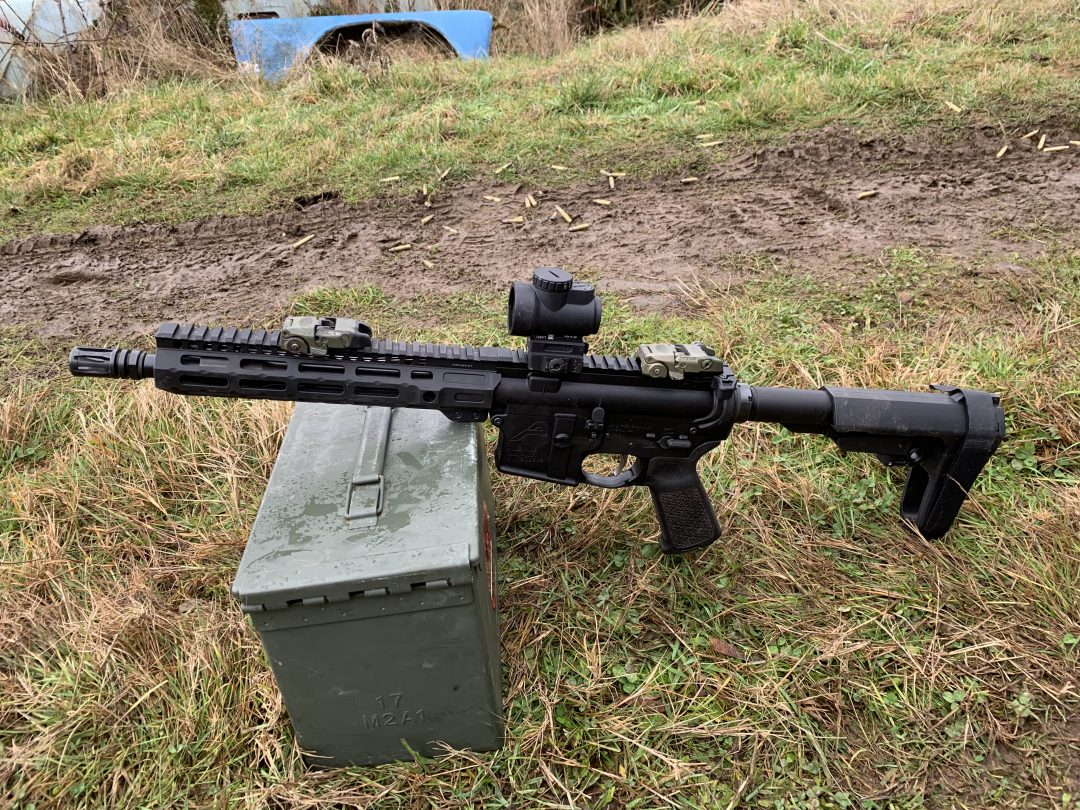 The MRO looks at home on a 10.5 AR pistol