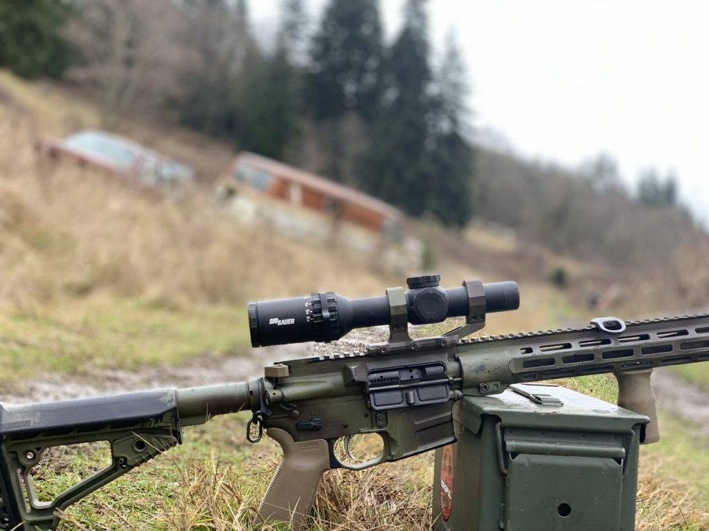 The Tango 6 works great as a DMR optic. And the low profile turrets don't snag on anything!
