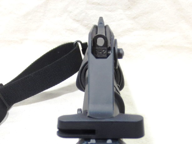 View over the top with the Glock rear sight as a front sight post