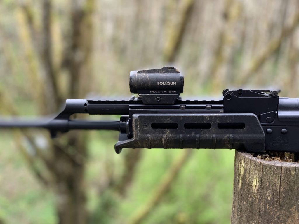 Side view of the 503GU (looks very similar to an Aimpoint)