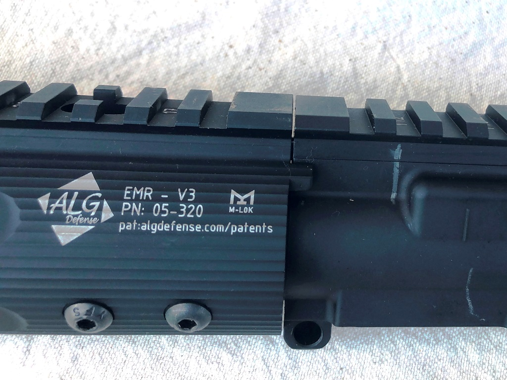 Look at that gap! Sweet! One assembled, there is a slight and necessary gap between the handguard and the upper receiver. This prevents the handguard fro making contact with the upper when using a loaded bipod or other shooting aids like a tight sling