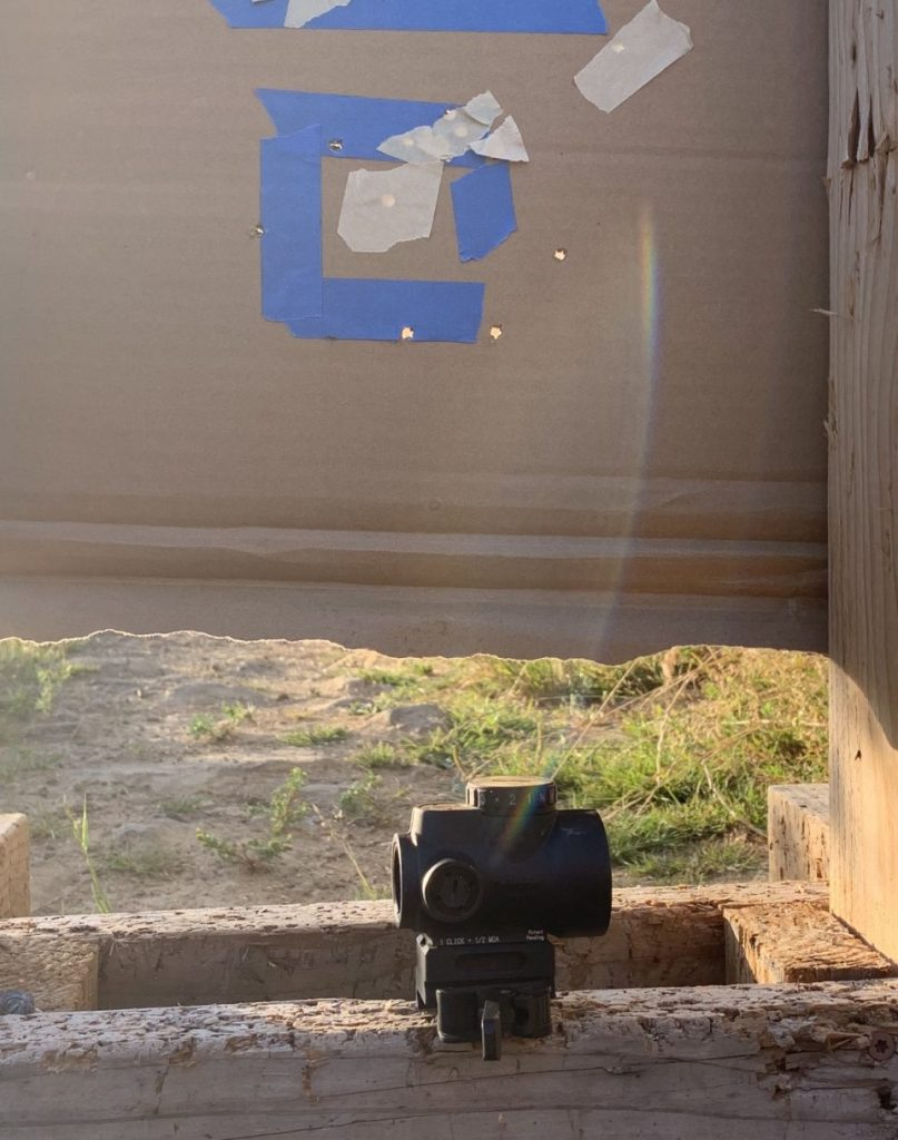 First group with MRO after sighting in with new ammo