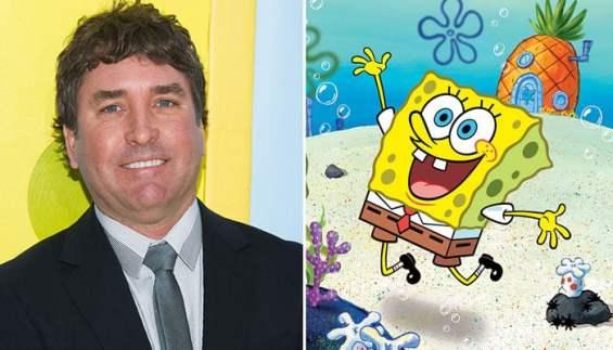 Stephen hillenburg and Spongebob together picture