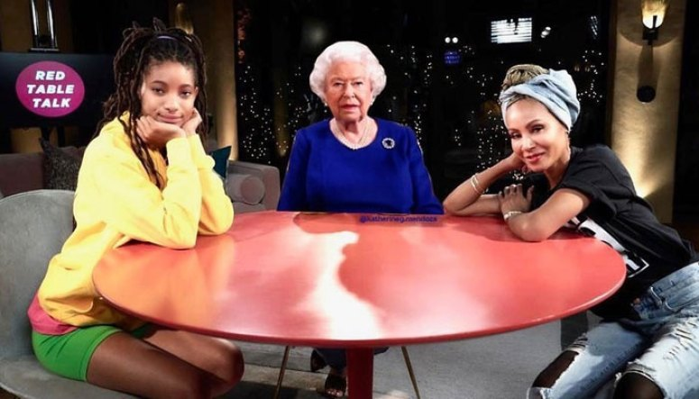 Jada Pinkett Hilariously Invites The Queen To Red Table Show After Meghan Markle's InterviewTalk' appearance