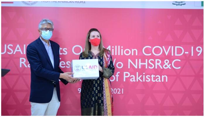 USAID donates 1 million Antigen Rapid Diagnostic Test kits to Pakistan