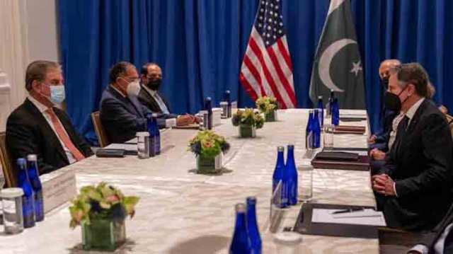 وزیر خارجہ شاہ محمود قریشی نے نیویارک میں اقوام متحدہ کے اجلاس کے موقع پر امریکی وزیر خارجہ اینٹونی بلنکن سے ملاقات کی۔
