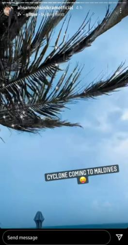 Minal Khan says she is being chased by cyclone Gulab in Maldives