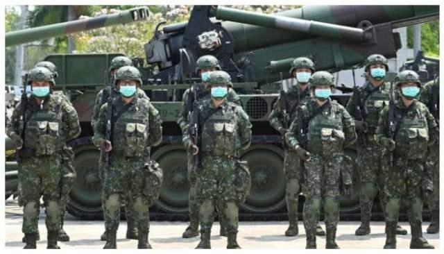تائیوان کی فوجیں۔  تصویر: اے ایف پی