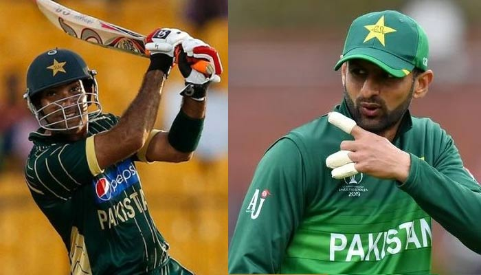 Sohaib Maqsood (left) and Shoaib Malik. — AFP/File