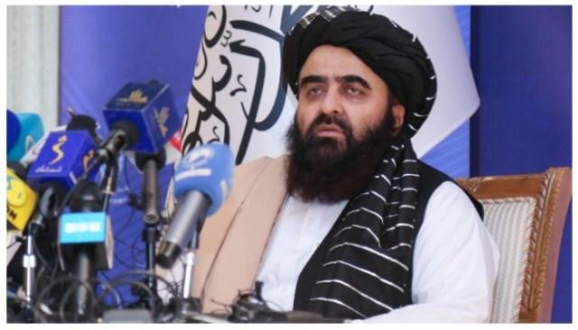 طالبان کے وزیر خارجہ عامر خان متقی  تصویر w ٹویٹر/@احمدموتقی 01۔