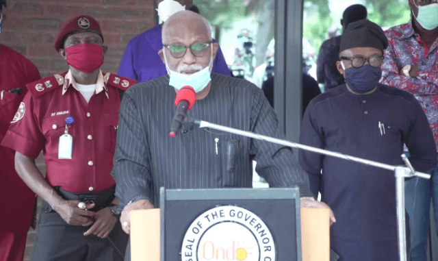COVID-19: Gov Akeredolu confirms Ondo 6th case is a murder suspect arrested in Edo State