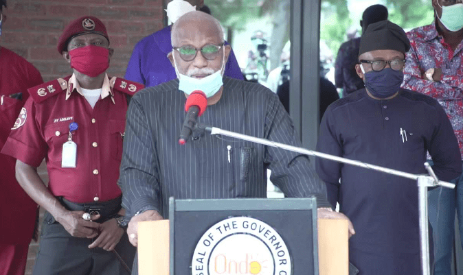 (Video) Akeredolu on his Covid-19 staus: 'I am positive, but asymptomatic'