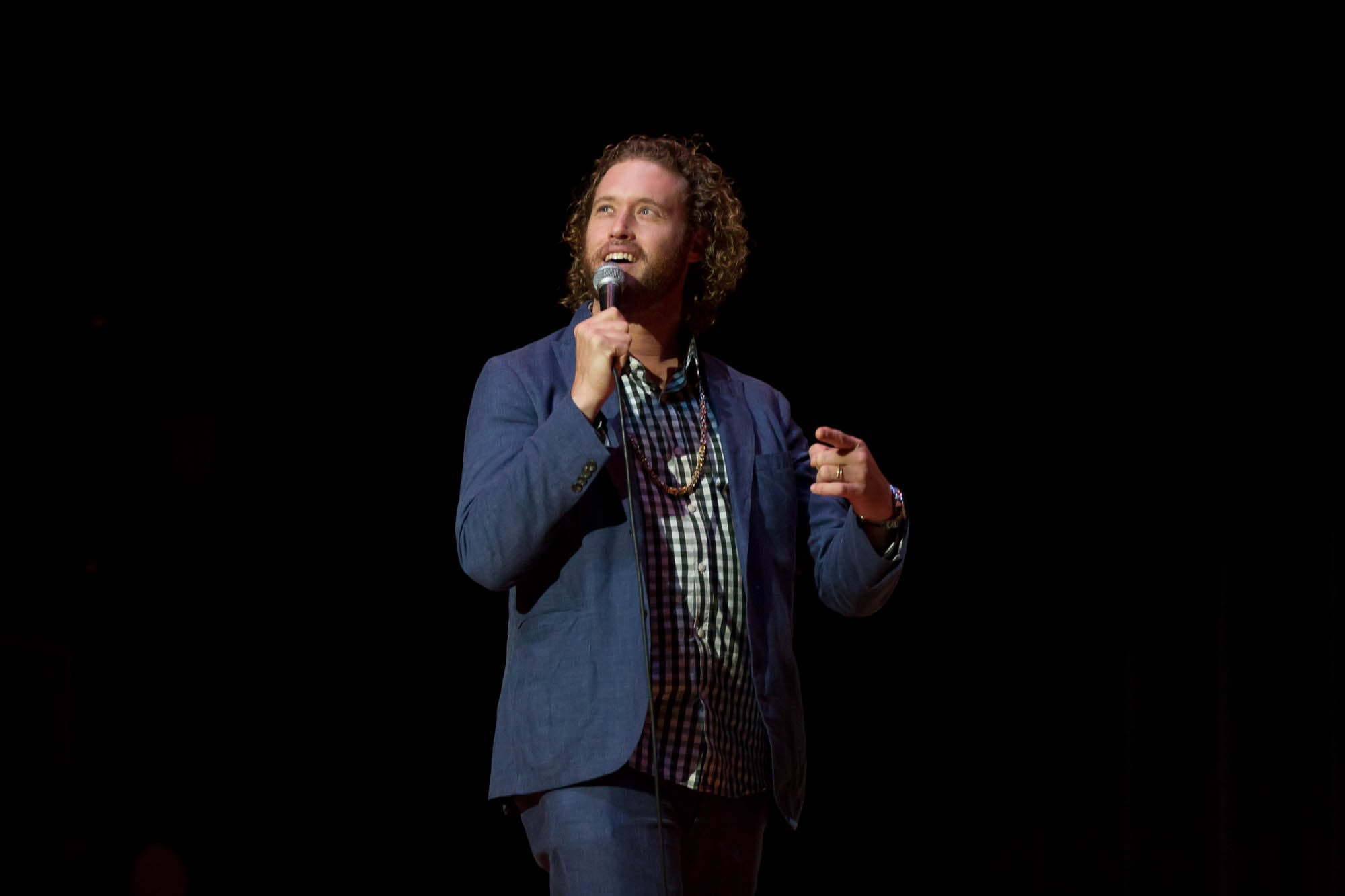 Comedian T.J. Miller at SU Homecoming