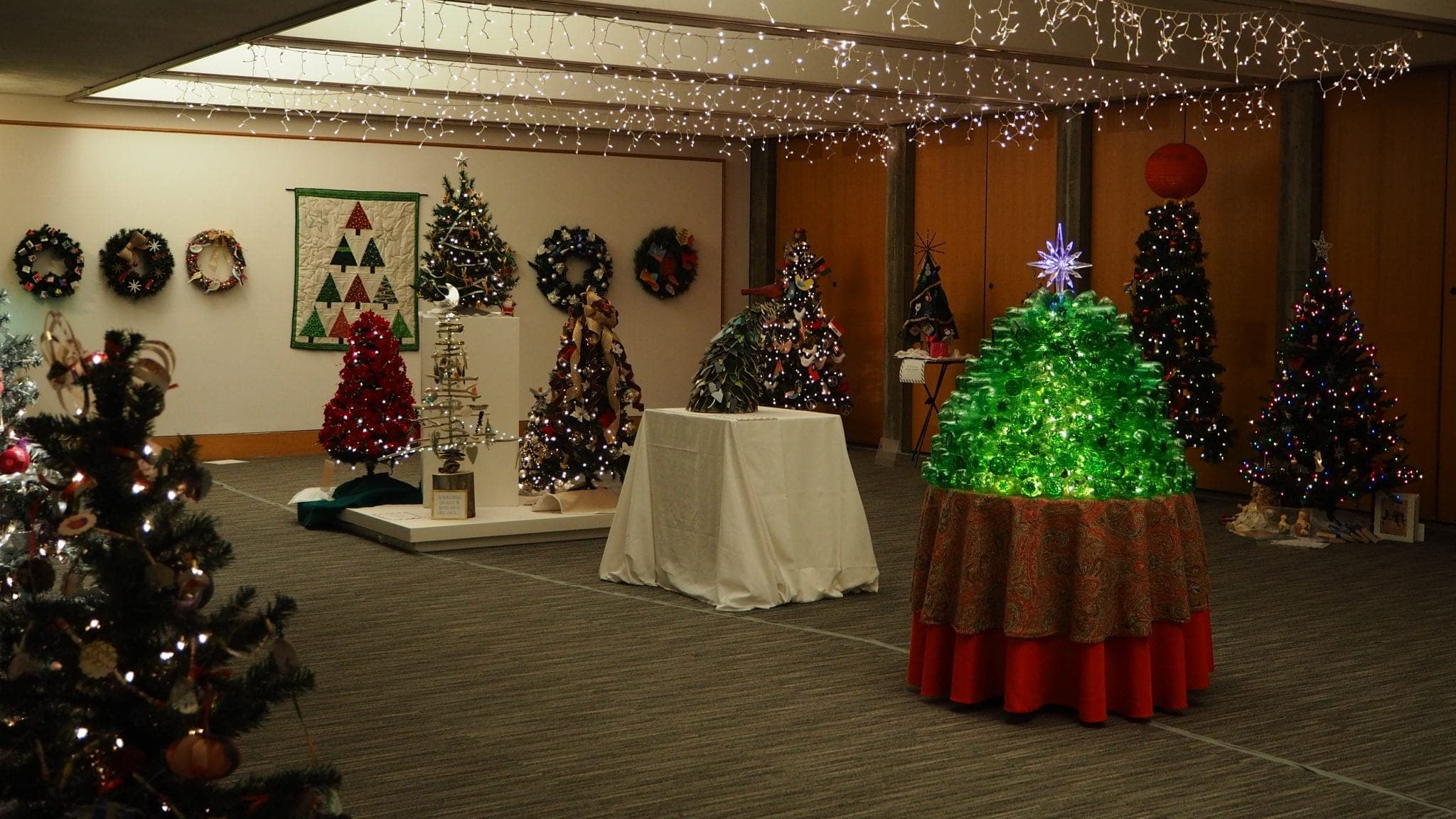 Christmas trees at Festival of Trees