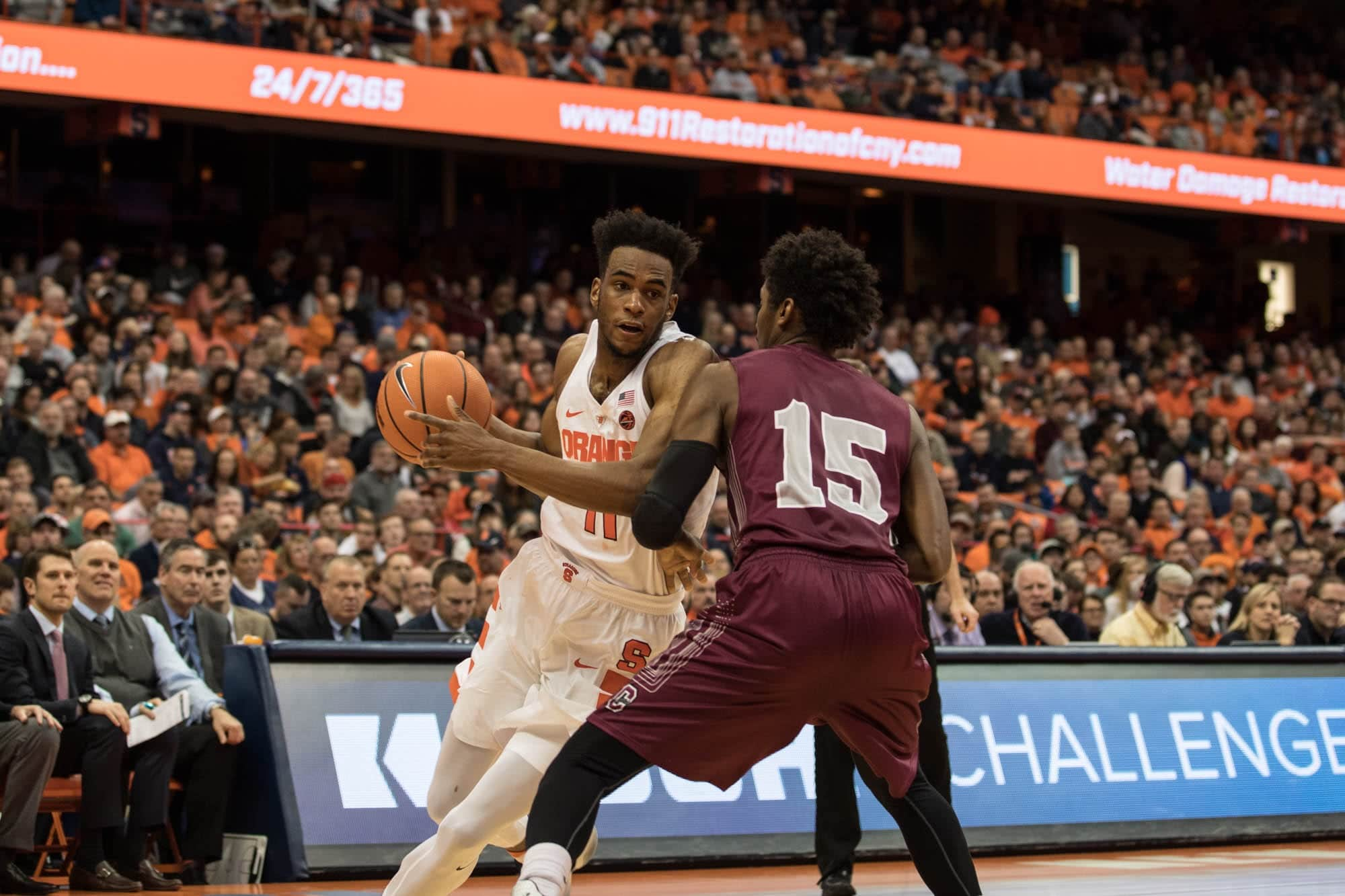 SU Men's basketball against Colgate