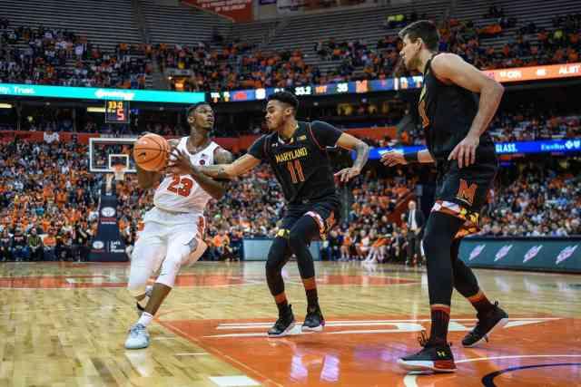 Men's basketball versus Maryland