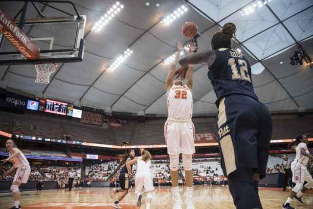 Syracuse women's basketball against Pitt