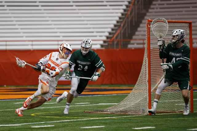 Syracuse men's lacrosse attack against Binghamton