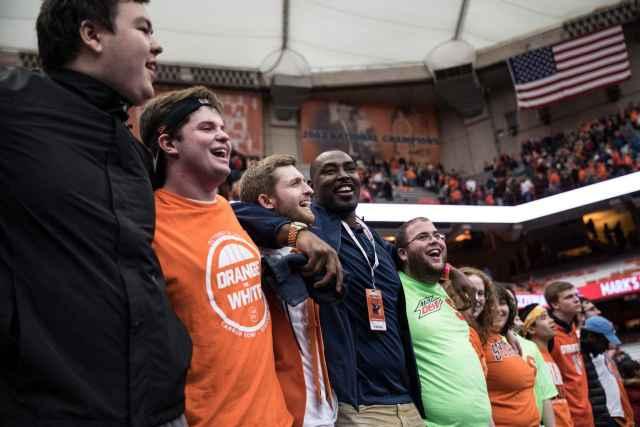 Syracuse vs. Wake Forest men's basketball fans