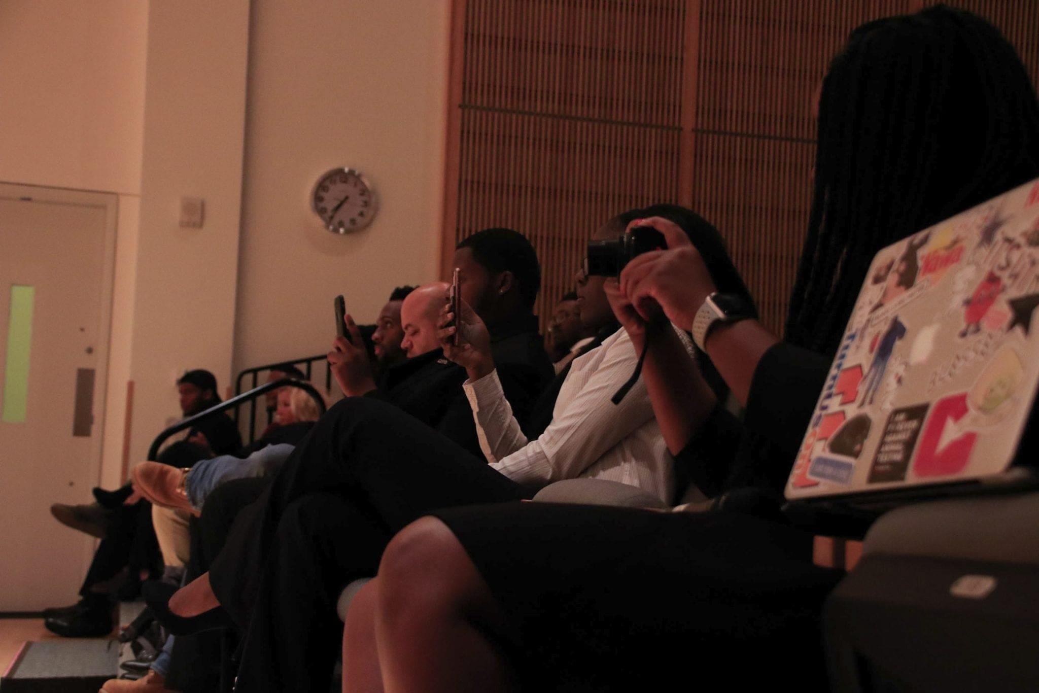 Students in the seats attending the event were comprised of many different organizations on campus.
