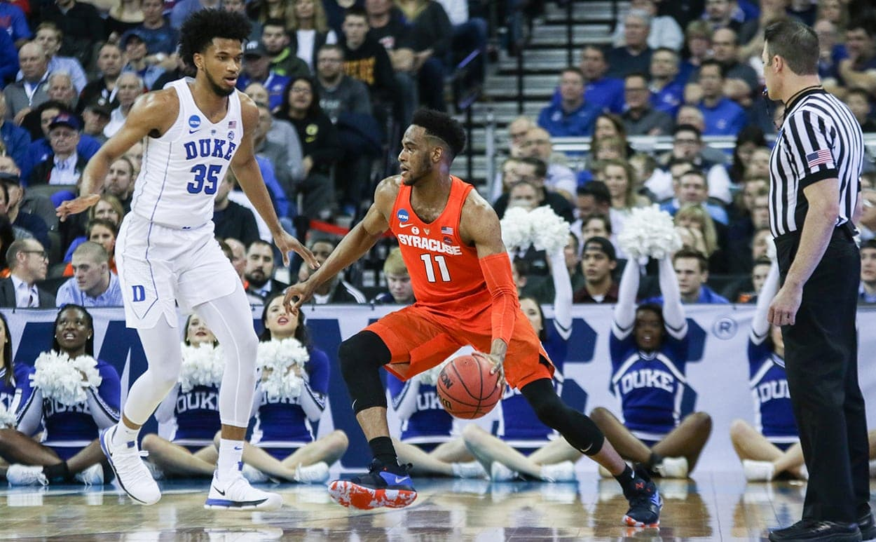 Oshae Brissett vs. Duke in the Sweet 16 NCAA Tournament game in Omaha, Neb.