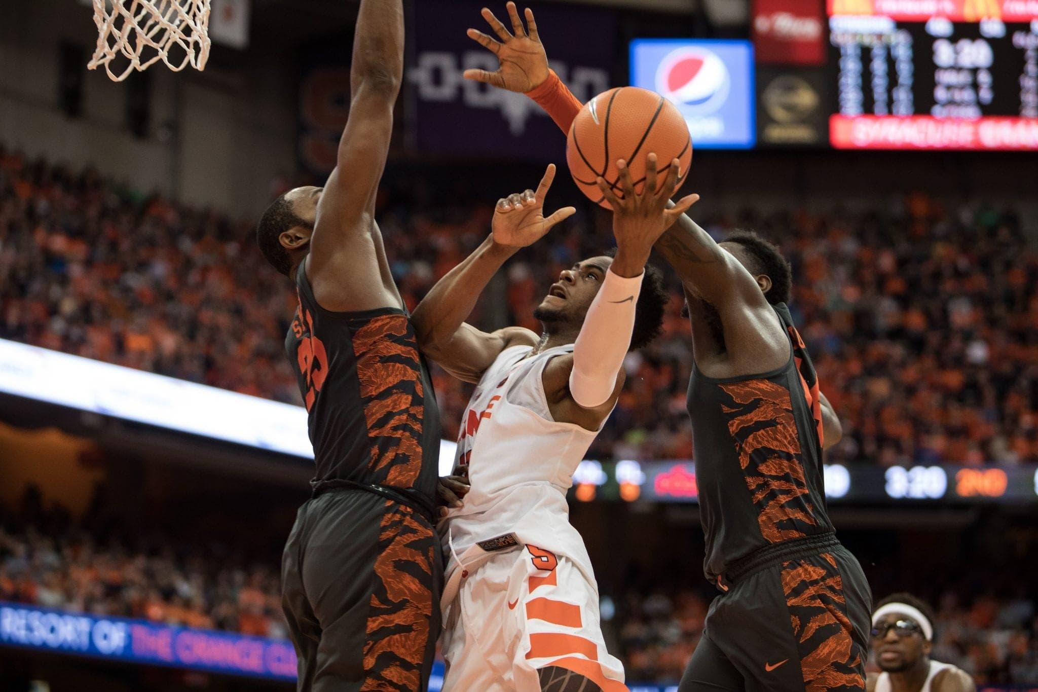Syracuse men's basketball versus Clemson