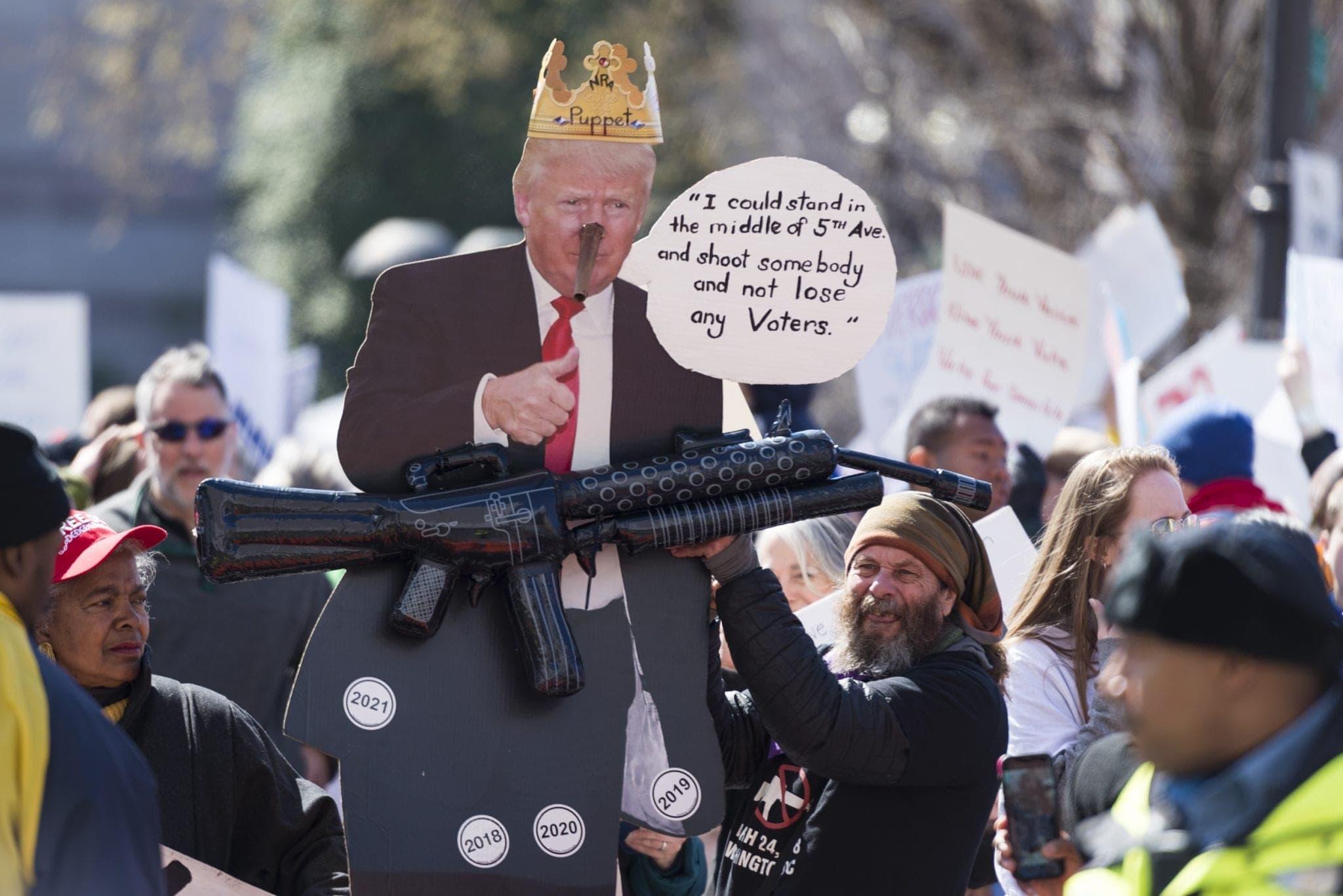 Caricature of President Trump in D.C.