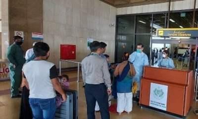 Sindh establishes health desks at domestic arrival, departure gates of Karachi airport