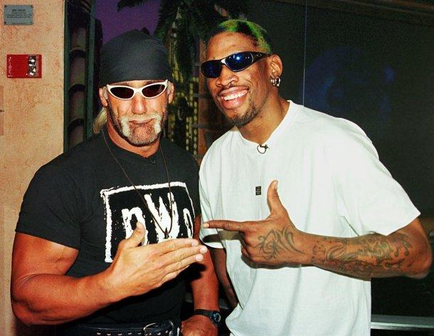 DENNIS THE MENACE Dennis Rodman missed Chicago Bulls practice in 1998 NBA Finals to wrestle with Hulk Hogan