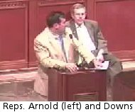 Reps Arnold and Downs, 6/11/09