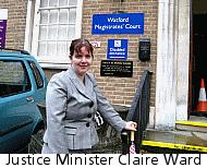 Justice Minister Claire Ward