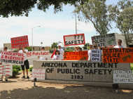 DPS protest, 4/30/09