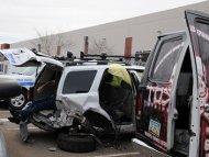 Redflex  van crash, photo by Glyph