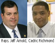 Reps. Arnold (left) and Richmond