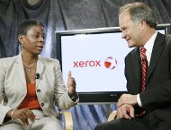 Xerox CEO Burns and ACS CEO Blodgett