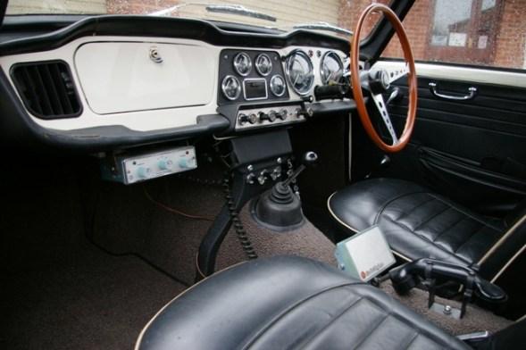TR4 Police Car Interior