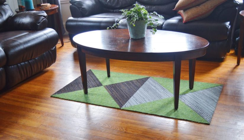 My totally custom FLOR rug; right from my brain. Photo: © TNG