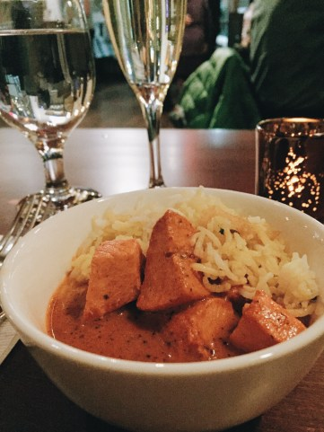 Chicken Tikka Masala & Basmati Rice at Shanti, Kendall Square, Cambridge, Mass. Photo: © TNG