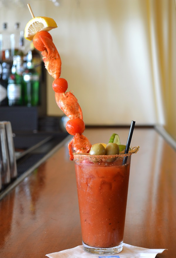 Lobster Bloody Mary at The White Elephant's Brant Point Grill. Photo: © TNG