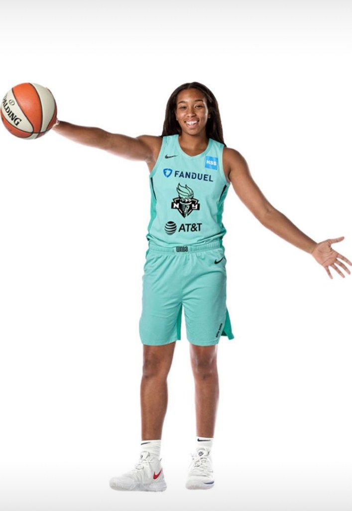 Megan Walker enters the 'Wubble', expected to join Liberty on Monday