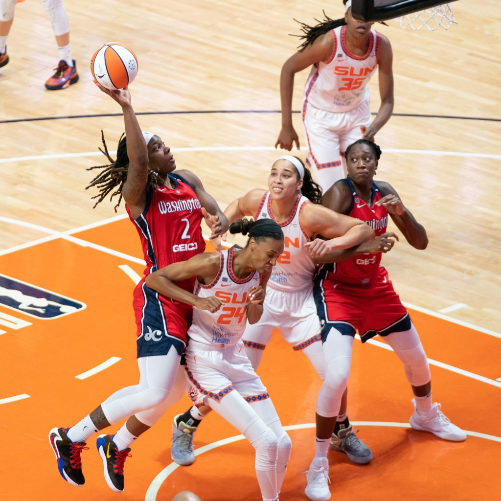 Myisha Hines-Allen is a walking double-double—and much more—for the Washington Mystics