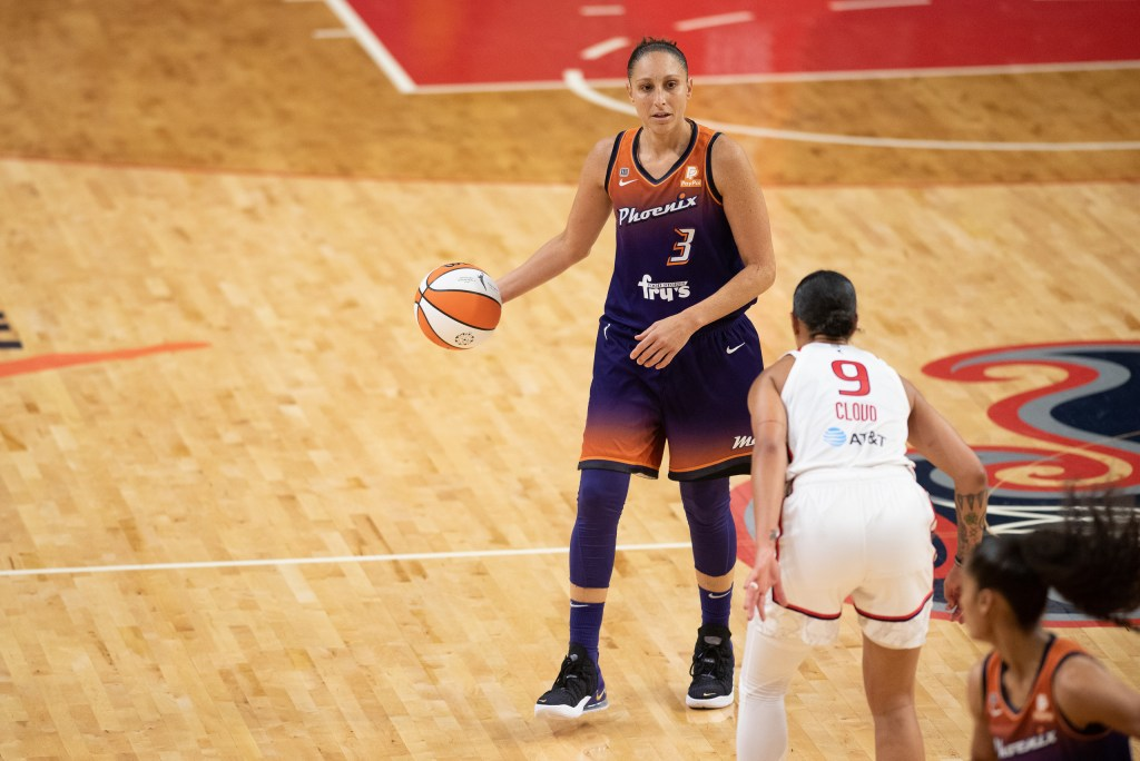 Diana Taurasi returned and was a key part of the Mercury advancing to the WNBA semifinals again. (Photo credit: Domenic Allegra)