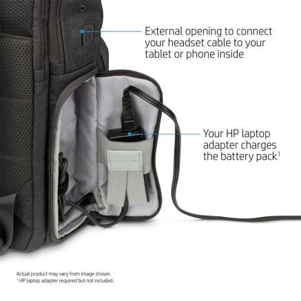 hp powerup backpack socket