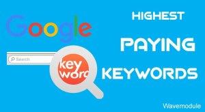 google adsense high paying keywords