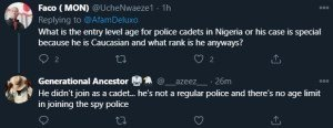 Reactions Over White Man Joining The Nigerian Police Force