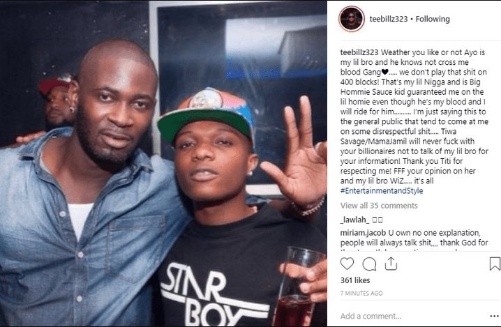 Image result for tee billz on tiwa savage and wizkid finally!!! what tiwa savage said will shock you in reaction to wizkid slapping her bum bum FINALLY!!! WHAT TIWA SAVAGE SAID WILL SHOCK YOU IN REACTION TO WIZKID SLAPPING HER BUM BUM TeeBillz and Wizkid