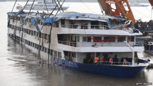 China Boat Mishap. Photo Credit: BBC