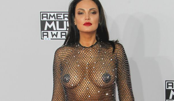 Bleona Qereti in a see through Dress at the 2015 American Music Awards