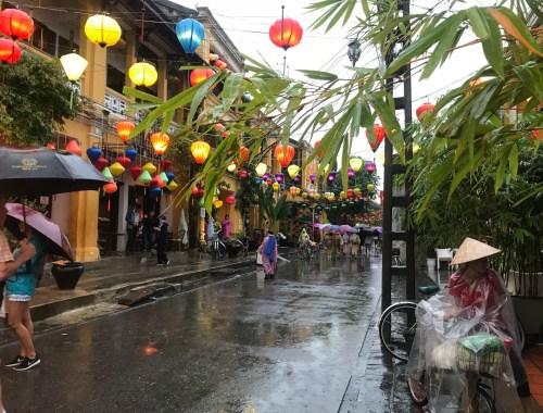 lanterns hanging in old town hoi an